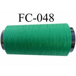 Cone de fil mousse polyester texturé fil n° 120 couleur vert cone de 5000 mètres bobiné en France