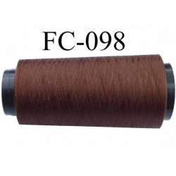 Cone de fil mousse polyester texturé fil n° 120 couleur marron cone de 1000 mètres bobiné en France