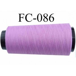 Cone de fil mousse polyester texturé fil n° 120 couleur lilas violine cone de 5000 mètres bobiné en France