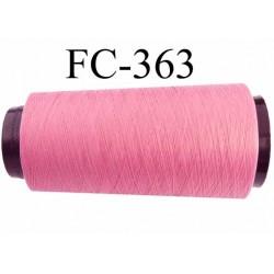 Cone de fil mousse polyester fil n° 110 couleur rose malabar longueur 1000 mètres bobiné en France
