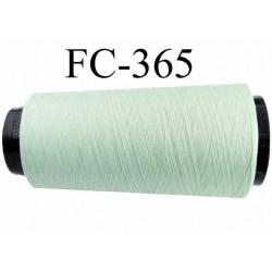 Cone de fil mousse polyester fil n° 120 couleur vert longueur 2000 mètres bobiné en France