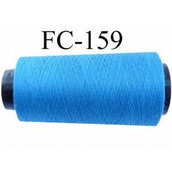 Cone de fil polyester fil n°100 couleur bleu longueur du cone 5000 mètres bobiné en France