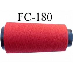 Cone de fil polyester fil n°120 couleur rouge longueur du cone 5000 mètres bobiné en France