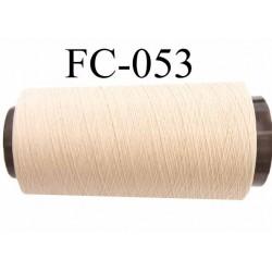 Cone de fil mousse polyamide FIL n° 100 / 2 couleur beige crème sable longueur de 2000 mètres bobiné en France