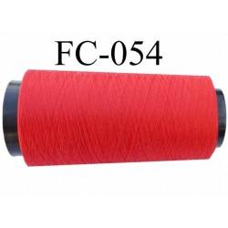 Cone de fil mousse polyamide fil n° 100 / 2 couleur rouge  longueur 2000 mètres bobiné en France