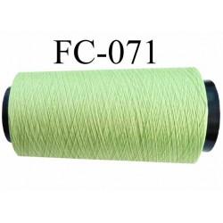 CONE de fil mousse polyamide fil n° 100 / 2 couleur vert anis  longueur de 2000 mètres bobiné en France