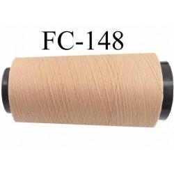 Cone de fil mouuse polyester texturé fil n° 165 couleur chair peau longueur 5000 mètres bobiné en France