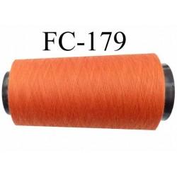 Cone de fil n° 120 polyester couleur orange longueur du cone 2000 mètres bobiné en France