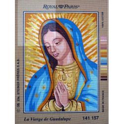 canevas 30X40 marque ROYAL PARIS thème la vierge de guadalupe  dimension 30 centimètres par 40 centimètres 100 % coton