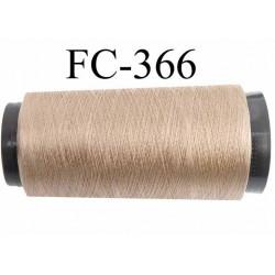 Cone de fil n°2/70 nylon couleur bronze clair caramel blond brilland longueur 2000 mètres bobiné en France