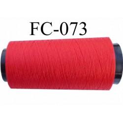 Cone de fil mousse polyester fil n° 110 couleur rouge longueur 5000 mètres bobiné en France
