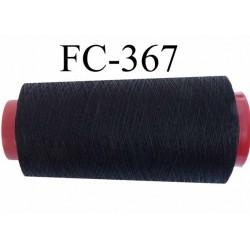 Cone de fil mousse polyester texturé fil n° 160 couleur noir cone de 5000 mètres bobiné en France