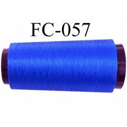 Cone de fil n°2/70 nylon couleur bleu brillant longueur 5000 mètres bobiné en France