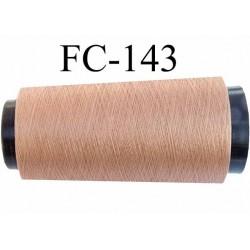Cone de fil n° 80/2 polyester continu couleur bronze clair doré lumineux longueur du cone 1000 mètres bobiné en France