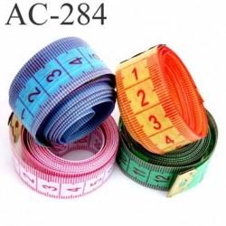 Mètre souple de COUTURE COUTURIÈRE 150 cm Gradué en mm/cm choisissez votre couleur rose vert bleu ou orange