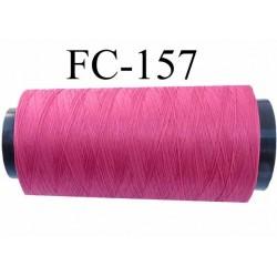 Cone de fil mousse polyamide fil n° 120 couleur fushia foncé  longueur du cone 5000 mètres bobiné en France