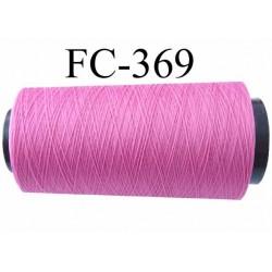 Cone de fil mousse polyamide fil n°120 couleur rose fushia clair longueur du cone 1000 mètres bobiné en France