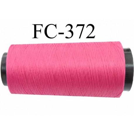 CONE de fil mousse polyamide fil n° 100 / 2 couleur framboise ou fushia clair  longueur de 1000 mètres bobiné en France
