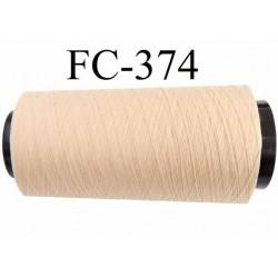 Cone de fil mousse polyamide fil n° 110 couleur sable ou  crème longueur du cone 1000 mètres bobiné en France