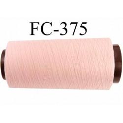 Cone de fil mousse polyamide fil n°120 couleur rose pétale longueur du cone 5000 mètres bobiné en France