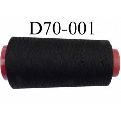 Cone ( en Destockage ) de fil  polyester  fil n°35 couleur noir longueur du cone 1000 mètres bobiné en France
