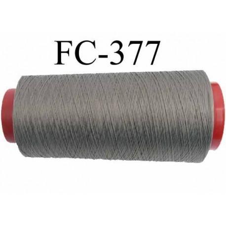 Cone de fil mousse polyamide fil n° 100 / 2 couleur gris  longueur 1000 mètres bobiné en France