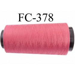CONE de fil mousse polyamide fil n° 100 / 2 couleur rose framboise  longueur de 1000 mètres bobiné en France