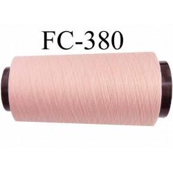 CONE de fil mousse polyamide fil n° 100 / 2 couleur rose longueur de 5000 mètres bobiné en France