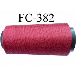 Cone de fil mousse polyamide fil n° 100/2 couleur rouge longueur 5000 mètres bobiné en  France
