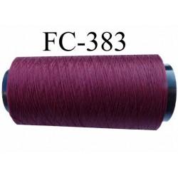 CONE de fil mousse polyamide fil n° 100 / 2 couleur prune  longueur de 2000 mètres bobiné en France