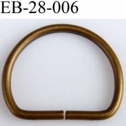 6f2e764fc9f8 Boucle etrier demi rond métal couleur laiton largeur extérieur 2.8 cm  intérieur 2.1 cm idéal sangle