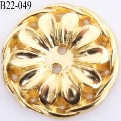 bouton 22 mm couleur doré en métal très joli la couleur est celle d'une pièce d'or diamètre 22 mm