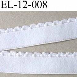élastique picot plat très belle qualité couleur blanc largeur 12 mm prix au mètre