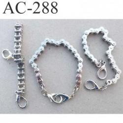 Chaine avec 2 fermoir un vrai bijoux en métal chromé longueur 21 cm largeur 9 mm très très belle