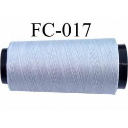 Cone de fil mousse polyester fil n° 160 couleur gris longueur 2000 mètres bobiné en France