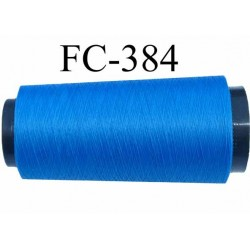 Cone de fil mousse polyester fil n° 160 couleur bleu longueur 2000 mètres bobiné en France