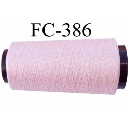 Cone de fil mousse polyester fil n° 110 couleur rose pétale longueur 2000 mètres bobiné en France