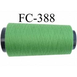 CONE 1000 m fil Polyester Coats épic fil n°120 couleur vert longueur 1000 m bobiné en France résistance à la cassure 1000 grs