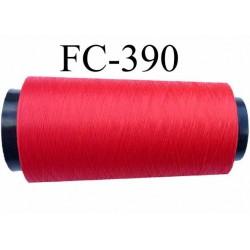 Cone de fil mousse polyamide fil n° 115 couleur rouge cone de 1000 mètres bobiné en France