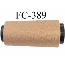 Cone de fil polyester texturé fil n° 165 couleur chair peau un peu foncé longueur 1000 mètres bobiné en France