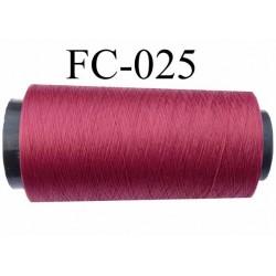 Cone de fil mousse polyamide fil n° 100/2 couleur grenat bordeau longueur 1000 mètres bobiné en  France