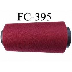 cone de fil polyester fil n°80 couleur bordeau longueur du cone 5000 mètres bobiné en France