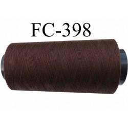 cone de fil polyester fil n°80 couleur marron  longueur du cone 5000 mètres bobiné en France