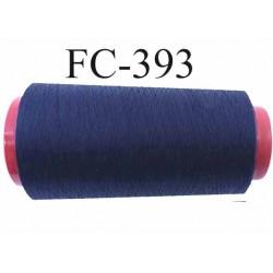 cone de fil polyester fil n°80 couleur bleu marine longueur du cone 5000 mètres bobiné en France