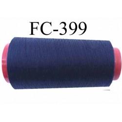 Cone de fil mousse polyester fil n° 160 couleur bleu marine longueur 1000 mètres bobiné en France