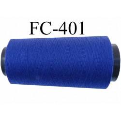 Cone ( Economique ) de fil  polyester  fil n°120 couleur bleu longueur 5000 mètres bobiné en France