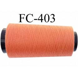 Cone ( Economique ) de fil  polyester  fil n°120 couleur orangé longueur 1000 mètres bobiné en France