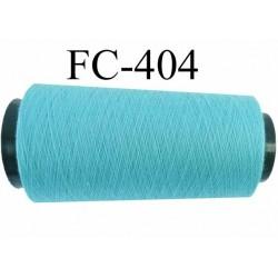 Cone ( Economique ) de fil  polyester  fil n°120 couleur bleu lagon longueur 1000 mètres bobiné en France
