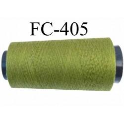Cone ( Economique ) de fil  polyester  fil n°120 couleur vert longueur 5000 mètres bobiné en France