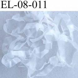 Elastique lastin transparent caoutchouc laminette  largeur 8 mm prix au mètre